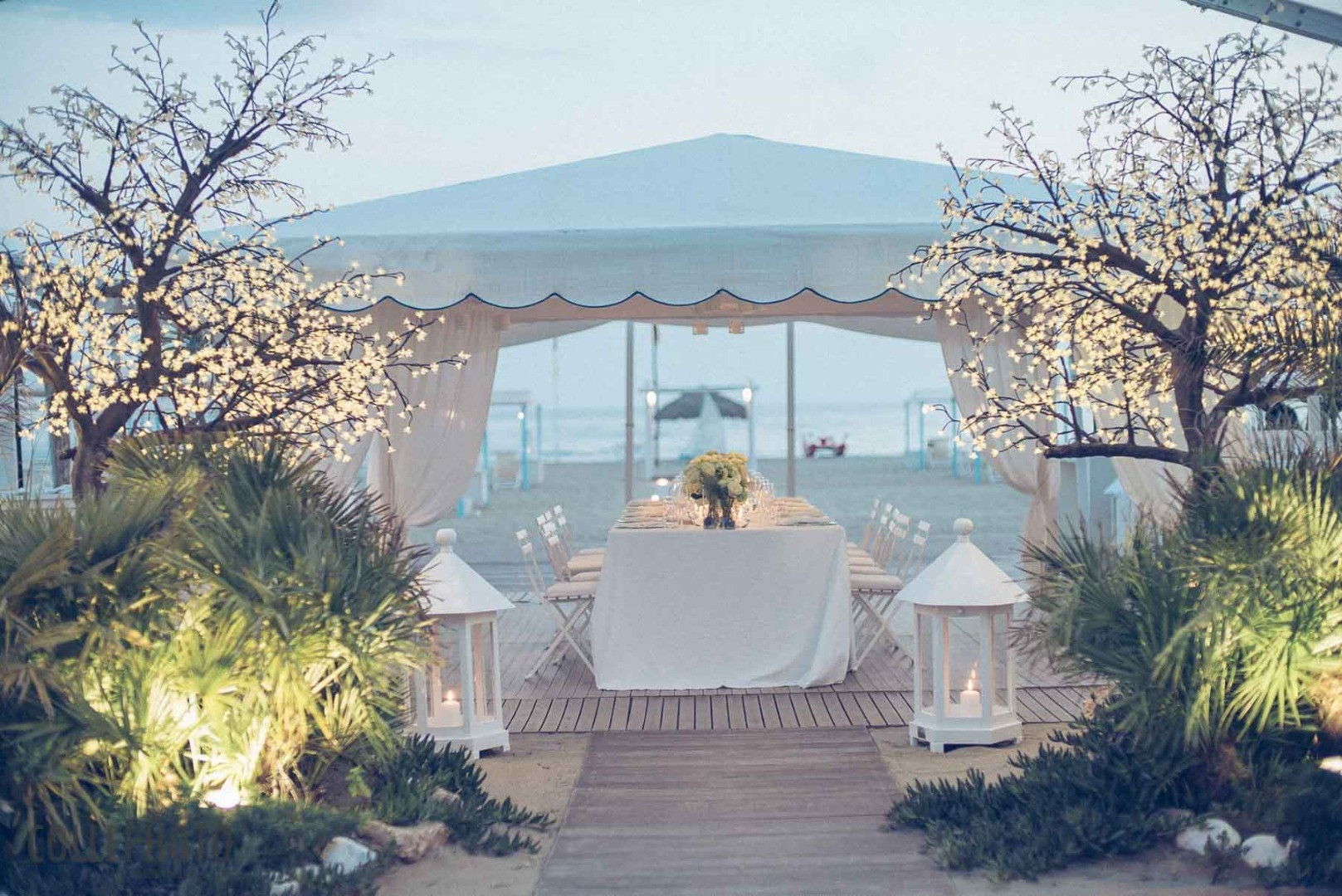 This wedding is dedicated to those who have always dreamed of getting married by the sea.